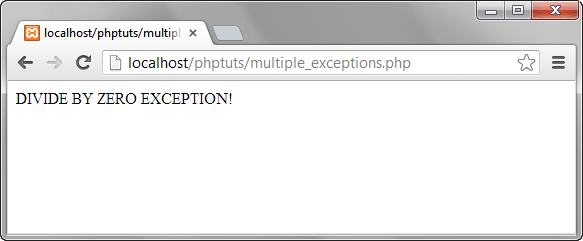 PHP Exception Handle in PHP