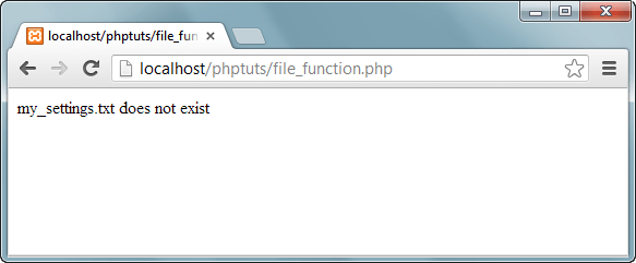 PHP file() Function