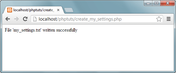 php write to file