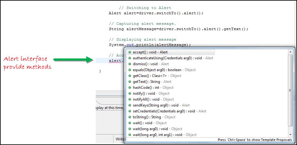 Alert & Popup Handling in Selenium WebDriver