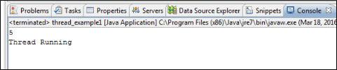 Thread example in Java
