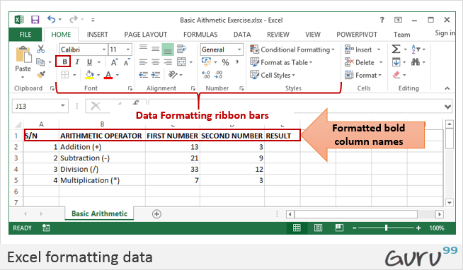How to Add, Subtract, Multiply, Divide in Excel