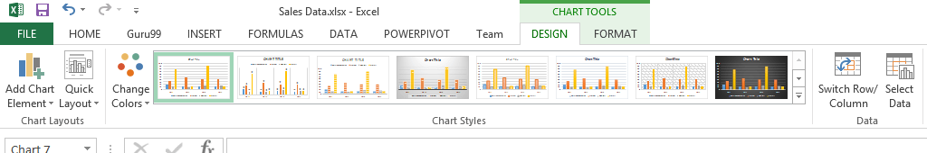 Visualizing data using charts in Excel
