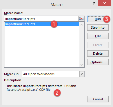 writing a macro in excel
