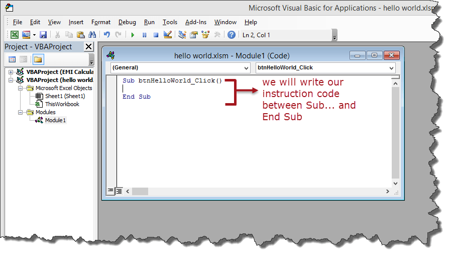 How to Create Visual Basic for Applications (VBA) in Excel