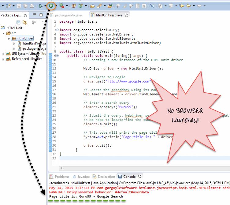 Selenium Headless Browser Testing: HTMLUnitDriver & PhantomJS