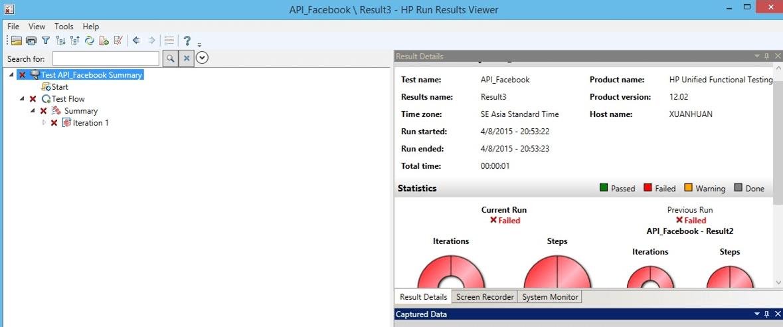 API Testing using HP QTP tool