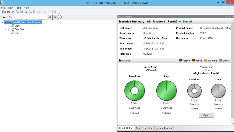 API Testing using HP UFT/QTP tool