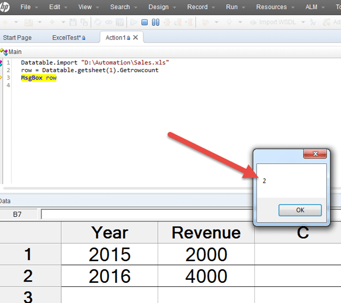 Using Excel with QTP