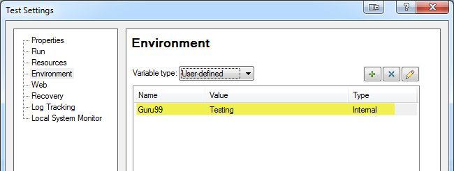 Environment Variable in QTP