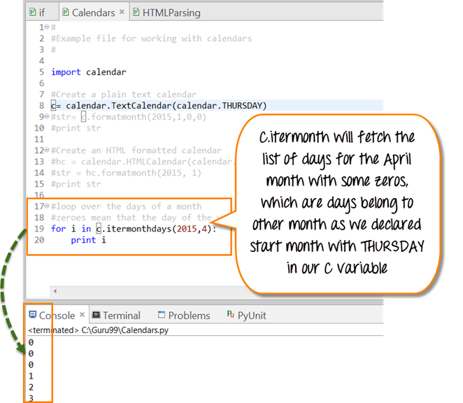 Calendar April Java : Python calendar tutorial with example