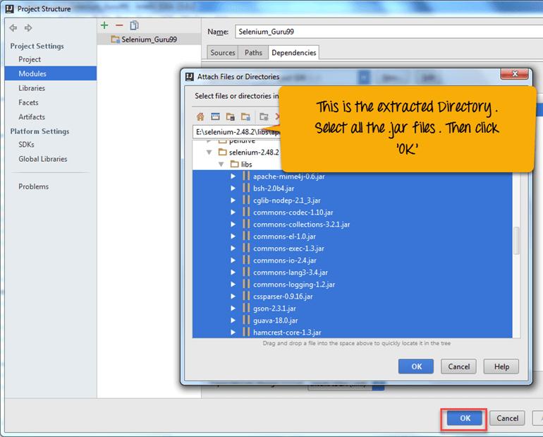 How to use IntelliJ IDEA & Selenium Webdriver
