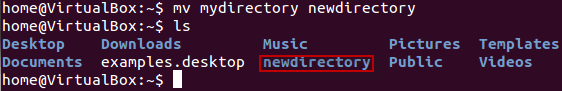 How to rename a directory using Linux/Unix Commands