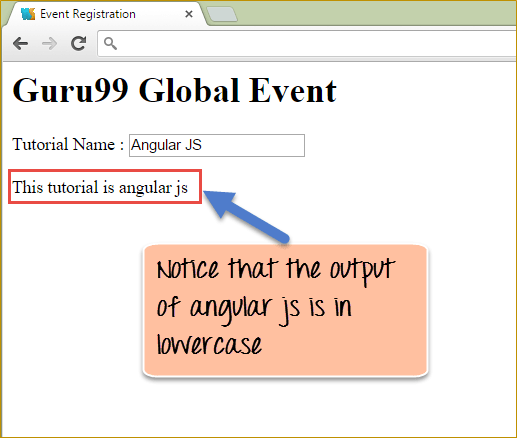 AngularJS Filter Example: Currency, JSON, Number, Lowercase