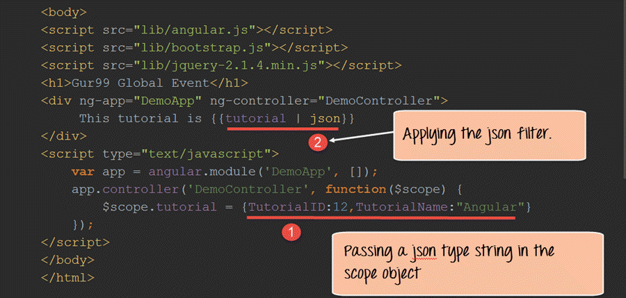 Example of JSON Filter in AngularJS