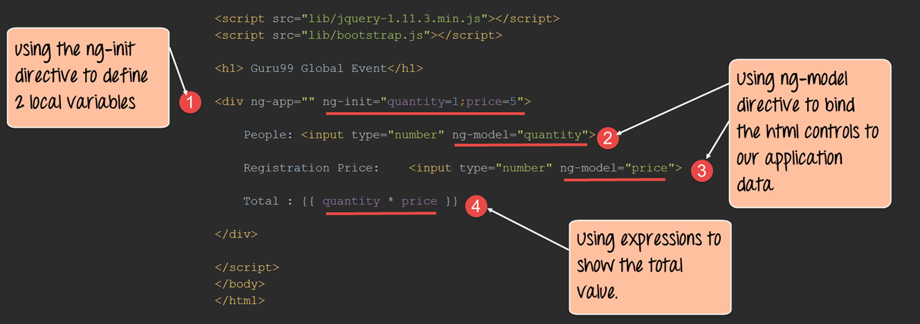 Example of np-model in AngularJS