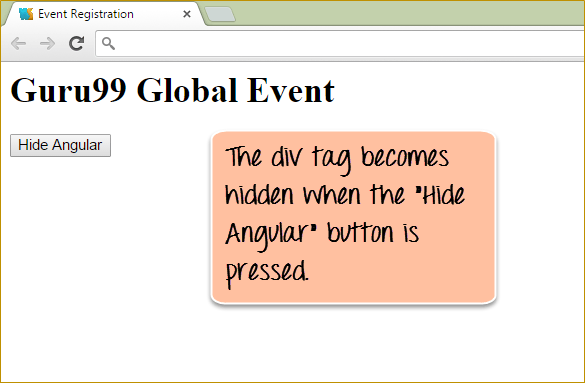 Learn AngularJS Events: ng-click, ng-show, ng-hide