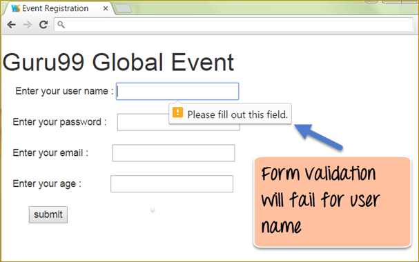 AngularJS Form Validation: TextBox, Button Click [Example]