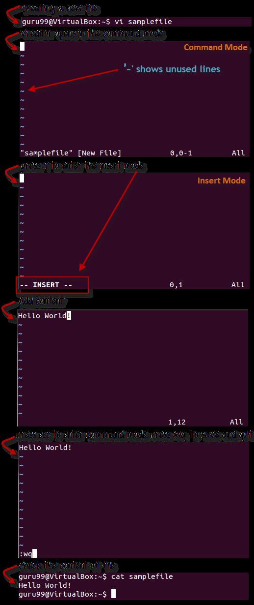 linux vi editor tutorial pdf