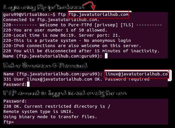 Linux/Unix SSH, Ping, FTP, Telnet Communication Commands