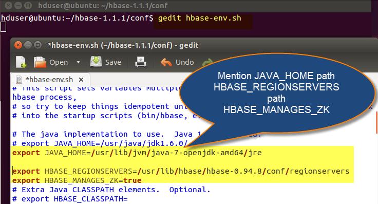 HBase Installation on Ubuntu