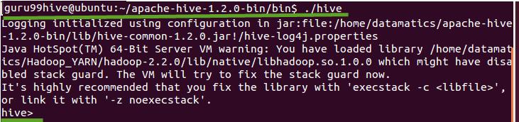 HIVE Installation & Configuration with MYSQL