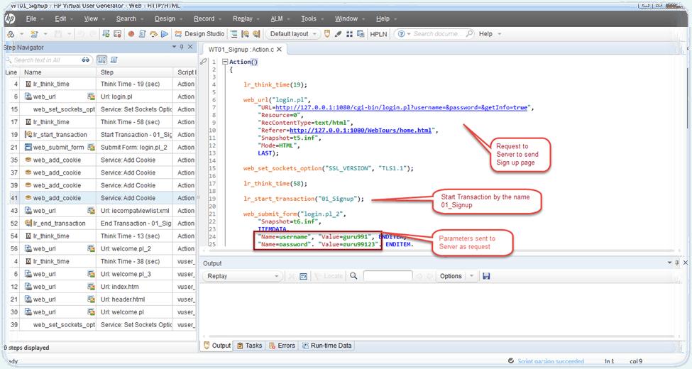 VuGen(Virtual User Generator) Script Recording Example in