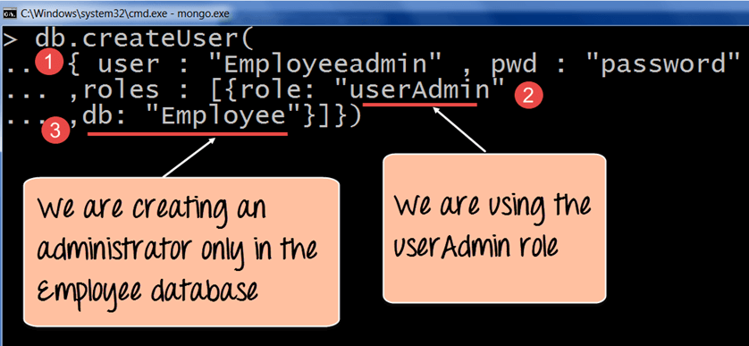 How to Create User in Mongodb & assign Roles