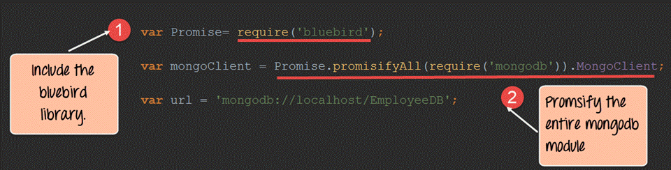 Bluebird JS Promises Example