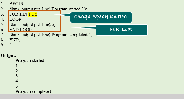 oracle pl sql for loop with example