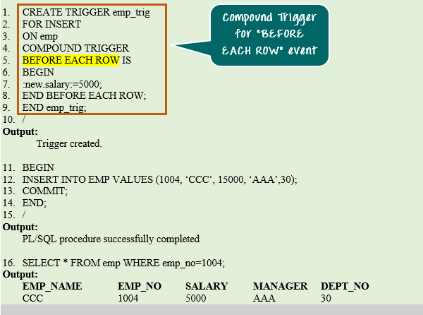 Oracle PL/SQL Trigger Tutorial: Instead of, Compound [Example]