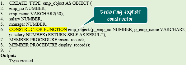 Object Types in PL/SQL