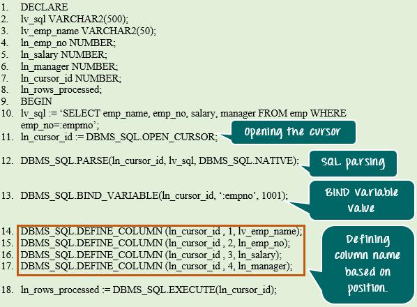 Oracle PL/SQL Dynamic SQL Tutorial: Execute Immediate & DBMS_SQL