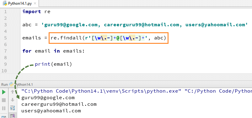 Python Regex: re match(), re search(), re findall() with Example