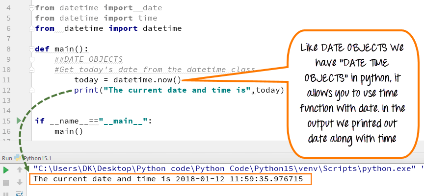 php current date time format