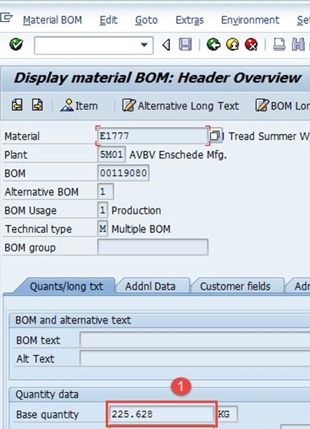 bill of material  bom  in sap pp  create  change  display