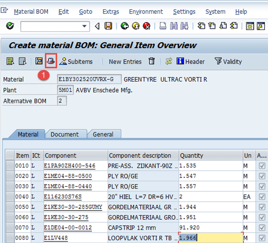 Bill of Material (BoM) in SAP PP: Create, Change, Display