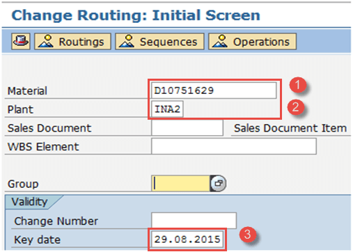How to Create/Change/Display Routing in SAP PP