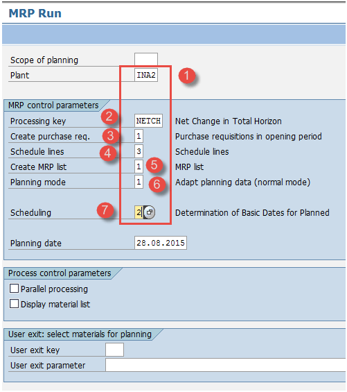 SAP MRP (Material Requirement Planning) Tutorial: MD01