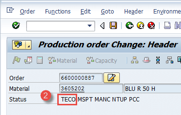 Production Order in SAP: CO01, MD16, CO02, CO15
