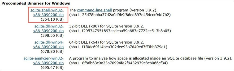 Download and Install SQLite