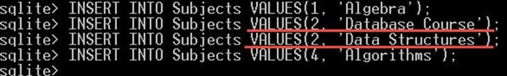 SQLite Query - INSERT, UPDATE, DELETE