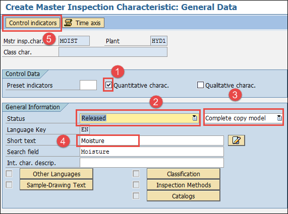 What is Master Data in SAP? QS21, QP01, QS31, QDV1, QI01