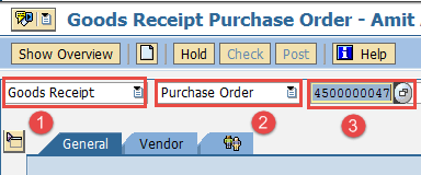How to Post Goods Receipt against Purchase Order in SAP