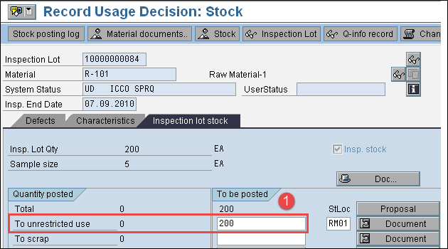 How to do Usage Decision in SAP