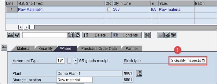 Steps to Post Goods Receipt against Purchase Order in SAP