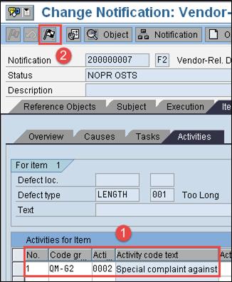 Quality Notification in SAP QM: QM02