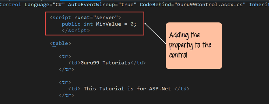 Creating Asp.net Controls, Webforms and Web config file