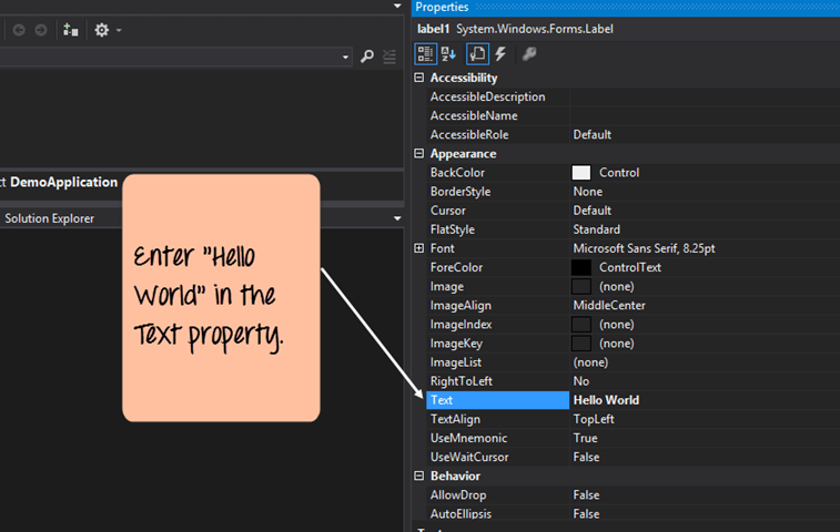 C# Windows Forms Application Tutorial with Example