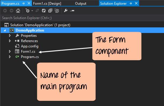 c sharp windows application tutorial